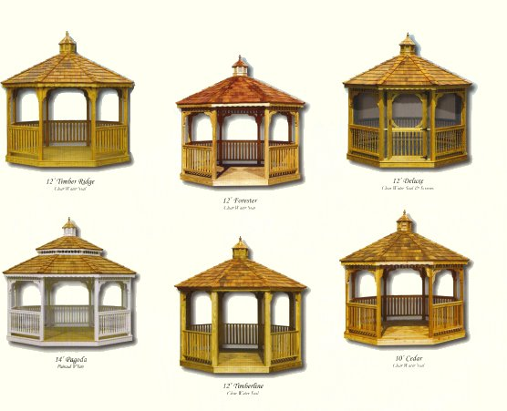 Wood Octagon Gazebos