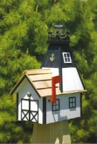 Mailbox Lighthouse with Solar Light Cedar