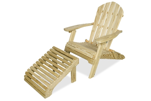 Adirondack Chair and Ottoman