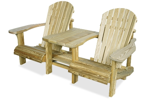 Adirondack Chairs and Attached Side Table