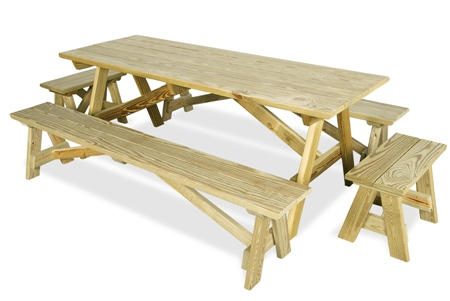 Long Picnic Table Benches