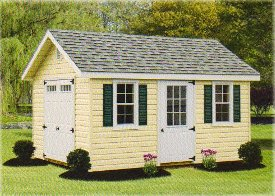 Vinyl Classic A-Frame Shed