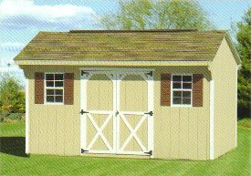 Wood Quaker Shed