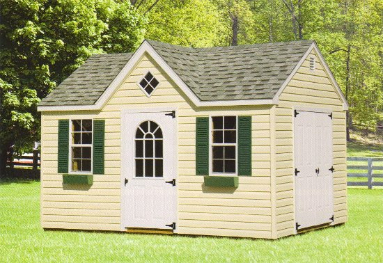 Vinyl Victorian Shed