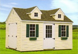 Vinyl Victorian Cottage Shed